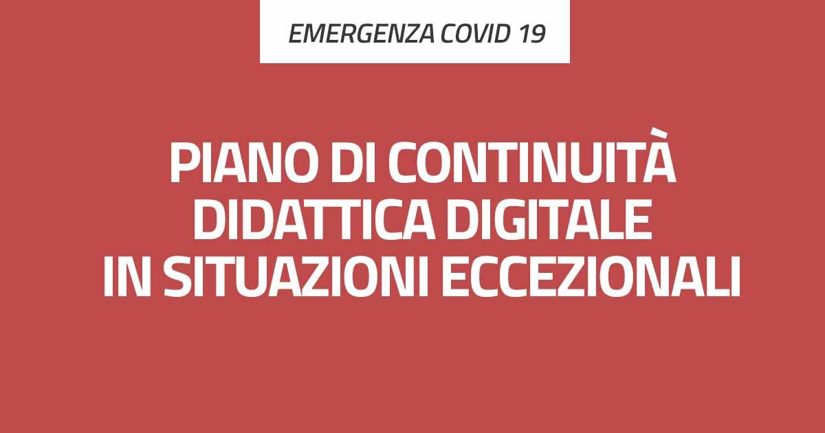 Piano di continuità didattia digitale